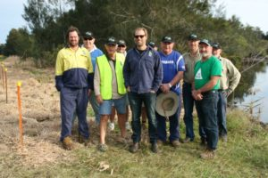 Richmond River Chapter members at riparian planting